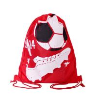 Full Side Printed Polyester Drawstring Backpack , Outdoor Gym Sports Backpack Manufactures