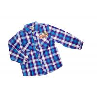 Cool Two Pocket Blue Check Flannel plaid shirt style kids 100% Cotton Manufactures