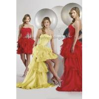 Ruched Bodice With Beads Ruffled Skirt 2012 New Design Prom Dresses (PD10033) Manufactures