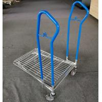 China Four Wheel Logistics Trolley / Grocery Hand Pull  Trolley Galvanized Finishing on sale