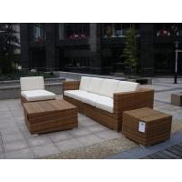 Outdoor Indoor PE Rattan Sofa With Side Sofa , Middle Sofa , Ottoman , Coffee Table Manufactures