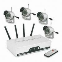 China 4-channel Wireless CCTV Camera Kits with 2,400MHz to 2,483MHz Transmission Frequency on sale