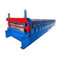 China Hydraulic Cutting Roof Roll Forming Machine , Metal Roofing Sheet Making Machine on sale