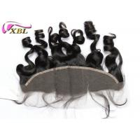 China Safe Ear To Ear Lace Frontal Closure , Loose Wave Malaysian Virgin Hair For Women wholesale