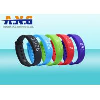 USB Port HF Rfid Tags , Sport Rfid Silicone Wristbands with FM1108 chip Manufactures