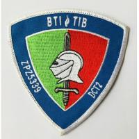 Custom embroidered badge type twill fabric iron on embroidery patch Manufactures