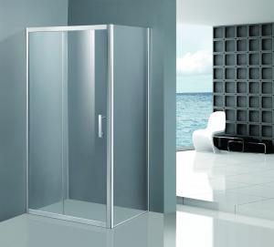 China Shinning Glass Shower Enclosures , Chrome Framed Shower Enclosure Coner Sliding Open on sale
