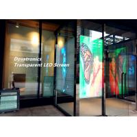 China Transparent Glass Advertising Led Display Screen , P6mm Led See Through Screen on sale