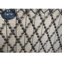 304 Stainless Steel Welded Razor Wire Mesh Anti Climbing Prison Fencing Manufactures