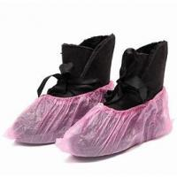 PP PE Coating Water Resistant Shoe Covers Protective Nonwoven Anti Skip Manufactures