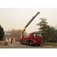16 Ton Truck Mounted Crane , Knuckle Boom Truck Crane SQ16ZK4Q ISO CCC Manufactures