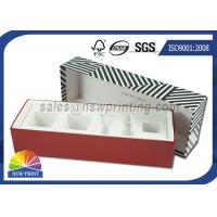 Luxury Paper Gift Box Cosmetic Rigid Cardboard Box With Flocking Plastic Blister Manufactures