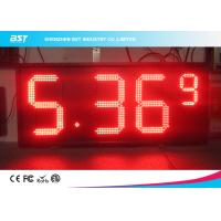 Red Semi Outdoor Led Gas Price Display With High Brightness 5000cd/sqm Manufactures