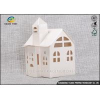 Candy / Cookie Folding Gift Boxes Special House Shaped Strictly Quality Control Manufactures
