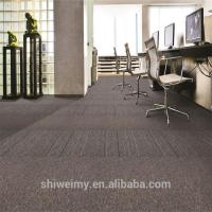 Fabric product plain stripe pattern bitumen backing PP carpet tile Manufactures