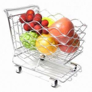 Fruit Basket in Shopping Trolley Design