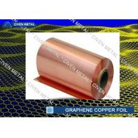 High Tensile Strength 25um Graphene Copper Foil Roll High Purity Manufactures