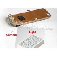 Iphone 6 Golden Plastic Charger Case Poker Scanner With Micro Camera Manufactures