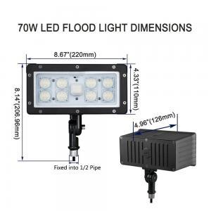China AC100-277V Slim LED Flood Light Outdoor Knuckle Mount 45w Aluminum / Glass Shell on sale