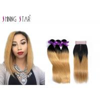 3 Blonde Unprocessed Peruvian Hair Bundles For Girls 8a Grade Nice Shine Manufactures