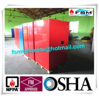 Red Flammable Paint Storage Cabinets Adjustable Shelf For Chemical Hazardous Manufactures