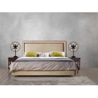 2017 new design of Leather / Fabric American style Bedroon furniture Upholstered headboard set bed/king size Bed Manufactures