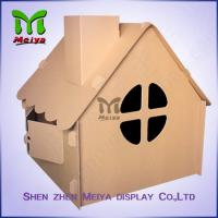 Corrugated Paper Artwork Cardboard Kids Toys foldable Craft House Manufactures