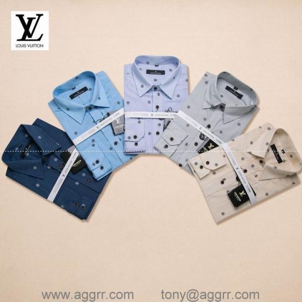 Quality LV men plaid shirts ,printing shirts ,long sleeve shirt, brand shirts for sale