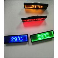 Quality RGB Programmable Scrolling LED Sign , Rechargeable USB Flashing Electronic LED Name Badge for sale