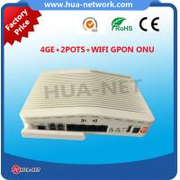 Quality Huawei/ZTE/Huanet GPON ONT 4GE 2POTS WIFI GPON ONU for wholesale for sale