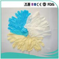 Yellow Powder/Powder Free Vinyl Gloves (ISO, CE certificated) 4.0g,4.5g,5.0g Manufactures