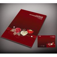 Red color invitation card printing, white art card paper printing quality card, offset printing full color Manufactures
