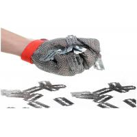 Butcher Stainless Steel Mesh Safety Gloves Flexible Wrist Strap For Home Slaughtering Manufactures