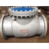 DIN Swing Renewable Seat Check Valve B7 / 2H Reinforced PTFE SS Spiral Wound Graphite Manufactures