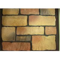 Quality Light Texture Green Faux Stone Veneer Panels Low Water Absorption for sale