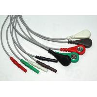 China Common 3 Lead 5 Lead ECG Cable Set , LL / Din Style ECG Trunk cable on sale