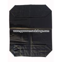 Black PE Plastic Valve Sealed Bags for Packing Activated Carbon / 25kg Valve PE Sacks Manufactures