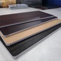 China Fireproof Core Wood Grain Aluminum Composite Panel For Room Decoration on sale