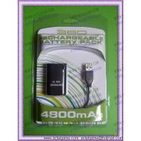 Xbox360 Rechargeable Battery Pack 4800mAh with usb cable xbox360 game accessory Manufactures