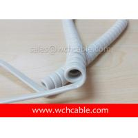UL Curly Cable, AWM Style UL21828 24AWG 4C FT2 90°C 300V, PP / TPE Manufactures