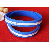 Soft Feeling Printed Silicone Wristbands , Promotional Rubber Wristbands SGS
