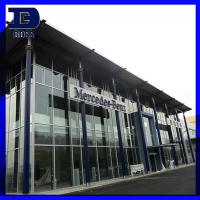 Commercial Prefabricated Steel Structures / Benz Car Sales Showroom Manufactures