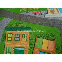 China Cartoon Style Soft Neoprene Fabric Roll Patten Games Play Baby Crawling Play Mats for sale