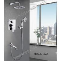 chrome finish concealed wall mounted square rain shower faucet set hand shower,Water saving Concealed shower faucet