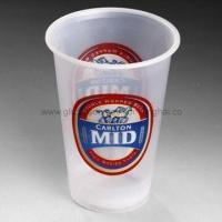 Disposable Plastic Cup, Made of PS Material, Volume 425mL, Ideal Packing Solusion for Beer Service Manufactures