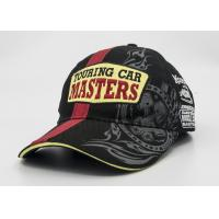 Racing Sandwich Visor Printed Baseball Caps 100% Cotton Patch Embroidery Manufactures