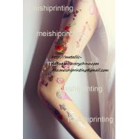 colored body art tattoo, water transfer tattoo,fashion art tattoo, flowers and wings Manufactures