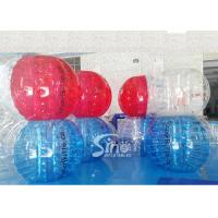 China Durable kids N adults TPU inflatable zorb soccer ball for outdoor playing soccer games on sale