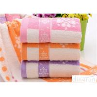 Quality Fashionable Home Spa Towel Dye Yarn , Face Wash Cloths Durable for sale