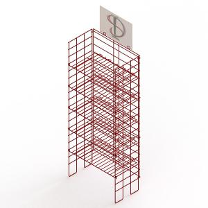 Adjustable Height Metal Wire Display Racks For Supmarket Folding Feature Manufactures
